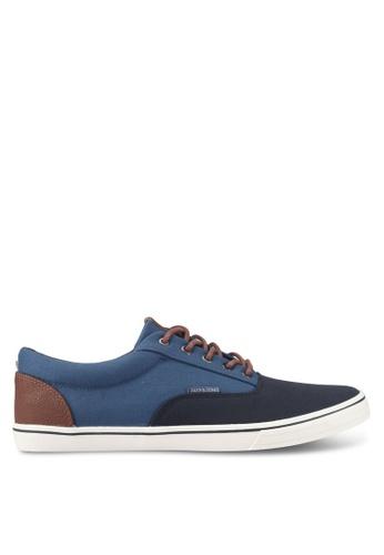 Jack & Jones navy Canvas Sneakers 9EAF8SH8F21D48GS_1