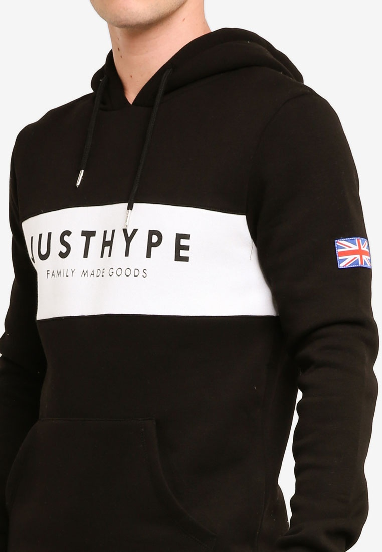 Britain Pullover White Hoodie Just Hype Black rrqCwSXx