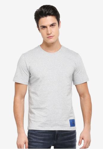 Calvin Klein grey Takoda Regular Crew Neck Short Sleeve T-Shirt - Calvin Klein Jeans BF7E1AA3EB7512GS_1