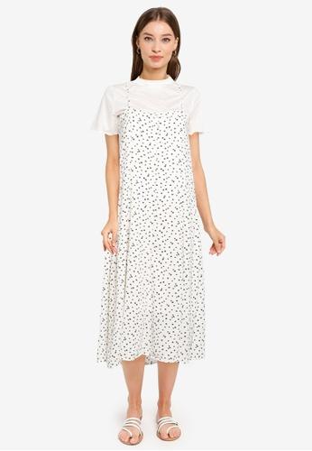 Heather white Woven Dress 58DE6AA04B74F1GS_1