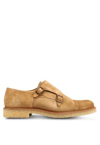 Mango Man beige Suede Monk-Strap Shoes 2D0A9SH9D7FBBBGS_1