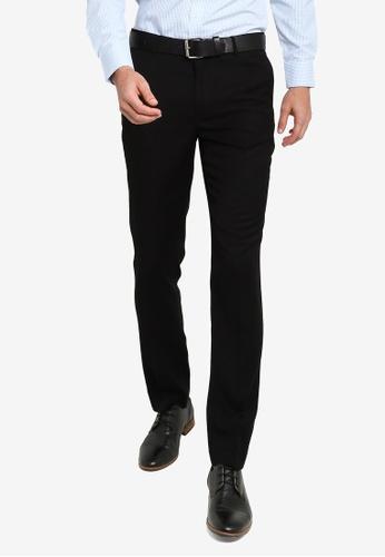 G2000 black Slim Fit TR Texture Pants 33A1DAAB789450GS_1