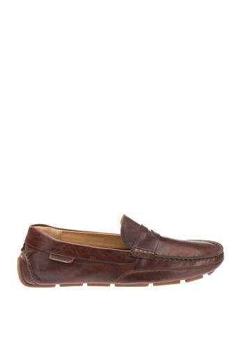 Sebago brown Kedge Penny Driving Shoes 140B7SH5EB0A10GS_1