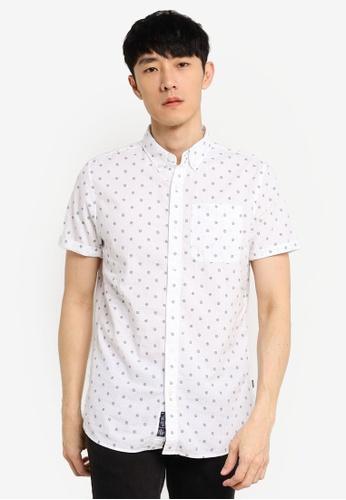 SUPERDRY white Classic Seersucker Shirt E4B1DAAC125CEEGS_1
