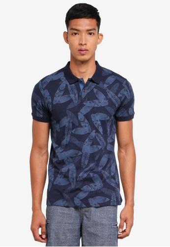 ESPRIT navy Short Sleeve Polo Shirt B9D53AABF02C23GS_1