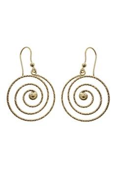 Swirly Hoop Earrings