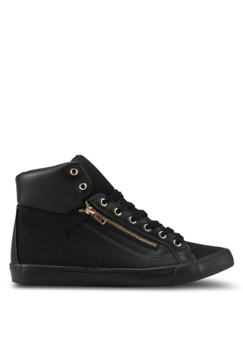 Topman black Black Loki Sneakers TO413SH0SLY0MY_1