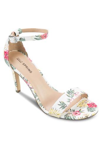 Waylanda 印花繞環zalora 手錶高跟涼鞋, 女鞋, 鞋