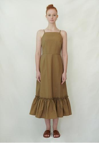 TAV [Korean Designer Brand] Bisney Dress - Brown 3759AAAEB72A0FGS_1