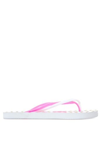 BENCH pink Printed Rubber Slippers BE550SH67LVCPH_1