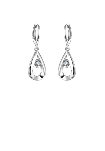 Glamorousky white Fashion and Simple Water Drop Earrings with Cubic Zircon D264DACEF2BF0DGS_1