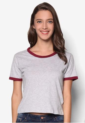 撞色esprit台灣網頁滾邊T 恤, 服飾, 服飾