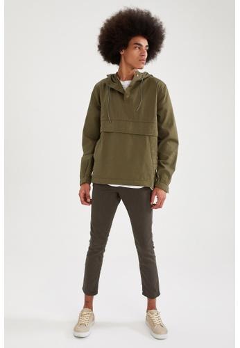 DeFacto brown Hooded Denim Jacket 95A05AAE4918F3GS_1