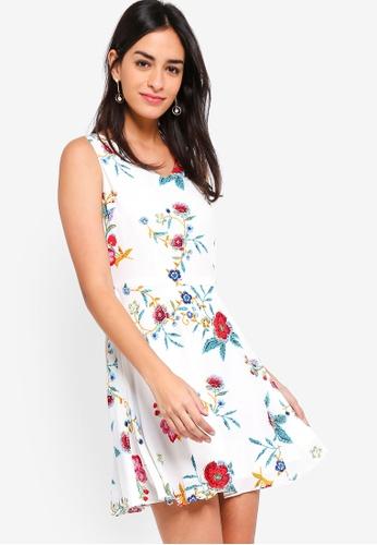 ZALORA white Fit And Flare Midi Dress C48A4AACA53088GS_1
