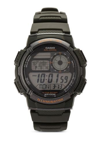Casio black Casio Men's Quartz 5 Alarm Watch CA843AC59VHSMY_1
