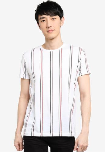 KOTON white Striped T-Shirt 3D246AA68185B1GS_1