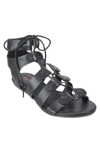 Twill esprit hk分店羅馬涼鞋, 女鞋, 鞋