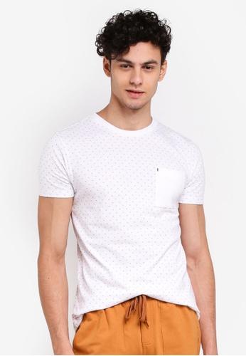 Penshoppe 白色 短袖印花T恤 5EDEAAA1023ED8GS_1