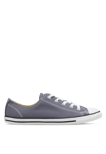 Converse black and grey and white Chuck Taylor All Star Dainty Sneakers CO302SH0SXV5MY_1