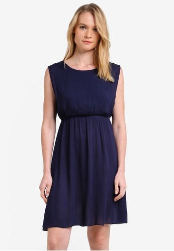 ZALORA navy Essential Sleeveless Fit And Flare Dress E6774ZZD97E8FEGS_1