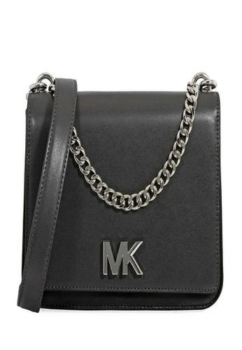 Michael Kors black Michael Kors Mott Leather Crossbody - Black 30F8SOXL7T-061 7E9ADACA131AEDGS_1