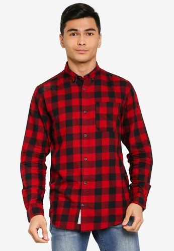 Produkt red Graham Check Long Sleeves Shirt EC441AA668B9F4GS_1
