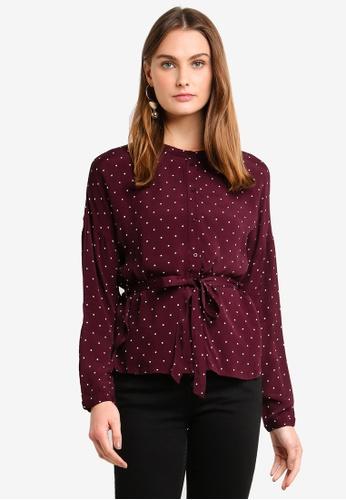 Vero Moda red Zilia Long Sleeve Shirt E505DAABFCF378GS_1