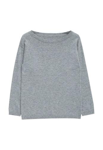 KLAPS grey Cashmere-blend Sweater 12B50AAF204079GS_1