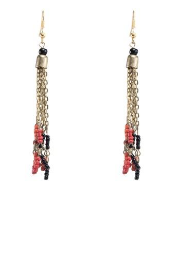 鍊飾esprit 內衣串珠垂墜耳環, 飾品配件, 飾品配件