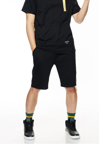Life8 黑色 Casual Sporty Black Shorts-02483-Black F24AEAAD09F501GS_1