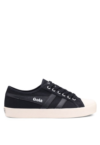 Gola black and white Coaster Sneakers F516BSHEA4EF96GS_1