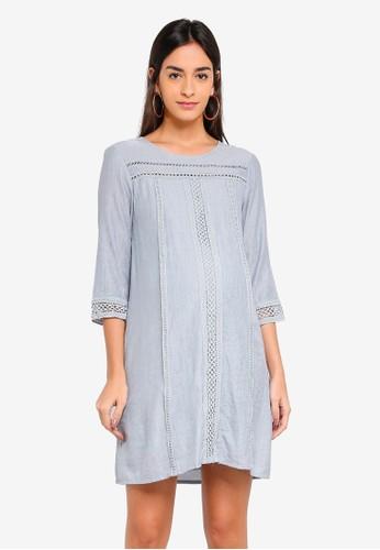 Spring Maternity grey Maternity Casandra Crochet Dress 2C484AAC507E98GS_1