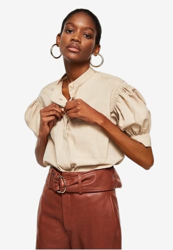 Mango beige Organic Cotton Shirt 50B0FAA916894BGS_1