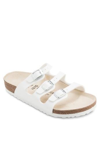 Florida 三帶扣esprit地址環平底涼鞋, 女鞋, 涼鞋