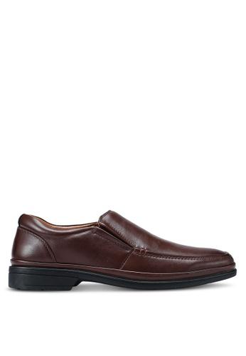 Bata 褐色 素色皮鞋 E7DA4SH7E67DA9GS_1