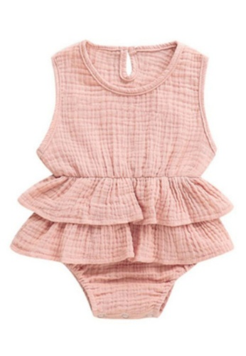 RAISING LITTLE pink Kirsten Romper - Pink F489CKA00F99FFGS_1