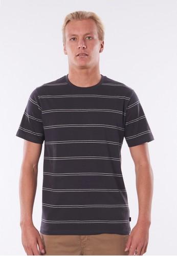 Rip Curl black Plain Stripe Tee - Washed Black 36C98AA43DA3E6GS_1