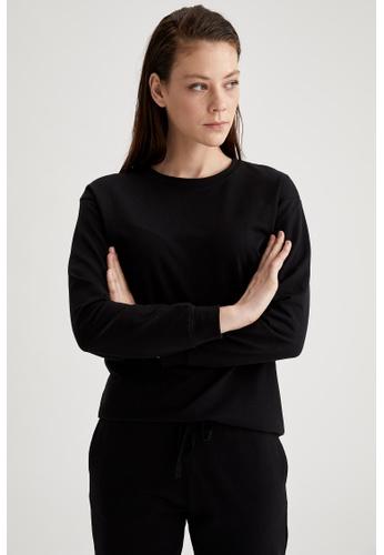 DeFacto black Woman Homewear Knitted Top 7977FAA6D5B365GS_1