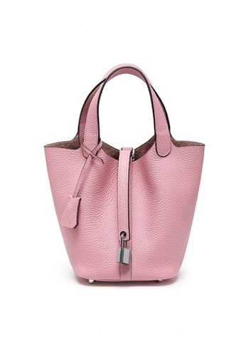 Twenty Eight Shoes pink VANSA Simple Leather Bucket Hand Bag VBW-Hb928700S ADAB2AC113A13BGS_1