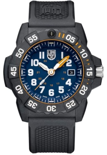 LUMINOX black Luminox Navy Seal Foundation LM3503.NSF Blue and Black Rubber Watch F0D94AC779ADC8GS_1