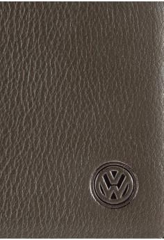 Volkswagen 品牌標誌真皮對折皮夾