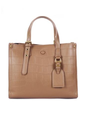 Twenty Eight Shoes brown VANSA Fashion Crocodile Leather Tote Bag VBW-Tb2897 0100EACDCF786FGS_1