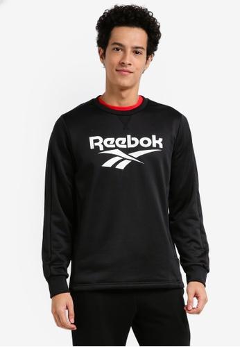 Reebok 黑色 and 白色 CN February Sweatshirt RE691AA0SW4IMY_1