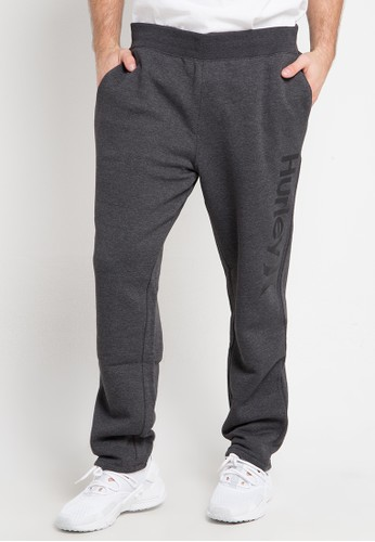 hurley grey Surf Check One & Only Trackpants Fleece 28D1FAAC622385GS_1