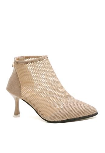 Twenty Eight Shoes 米褐色 性感網布腳眼靴 VB2101 BFA60SH8A9FB23GS_1