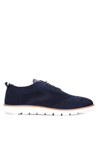 Alberto navy Knitted Oxford Sneakers EC34DSH9B2DF79GS_1