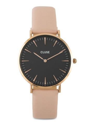 La Bohème 刻度顯示真皮圓錶, 錶類, 飾esprit童裝門市品配件