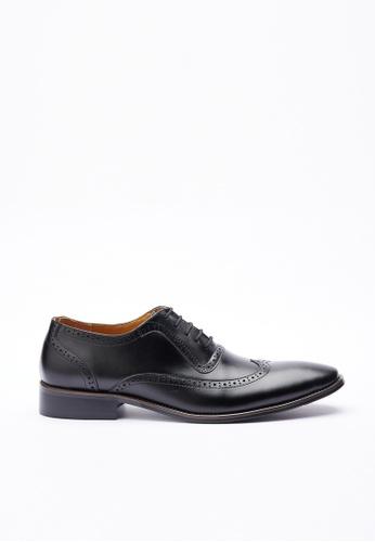 Kings Collection 黑色 哈夫丹真皮皮鞋 BF756SH2109BEAGS_1