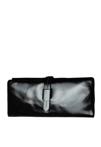 Twenty Eight Shoes black VANSA  Burnished Cowhide Bi-Fold Long Wallet VBU-Wt2148 DD892ACE08C8AEGS_1