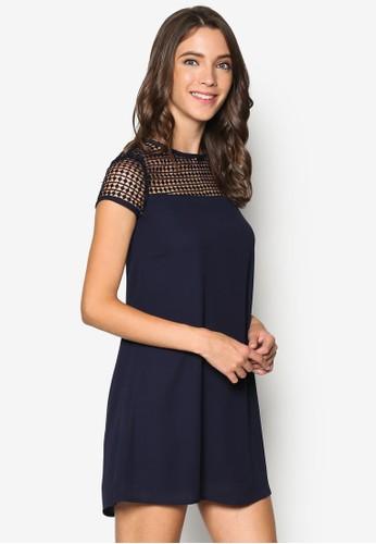 Meesprit hk storesh Yoke Shift Dress, 服飾, 洋裝
